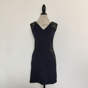 New Mark Navy Black Sleeveless Dress Size S